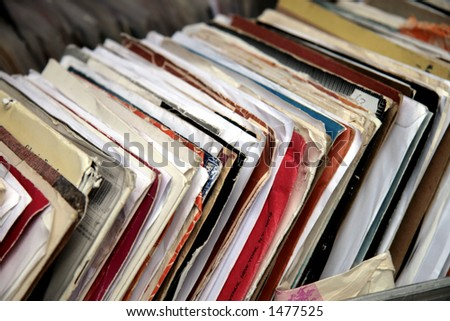 Vinyl records - stock photo