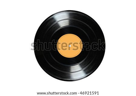 Vinyl 33rpm record with yellow label