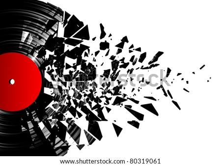 Vinyl Photos Vinyl Shatter Stock Photo