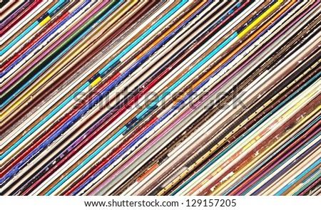 Vinyls background - stock photo