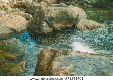 Violent River Rapid In The Stone Landscape Wild Nature Wallpaper Concept