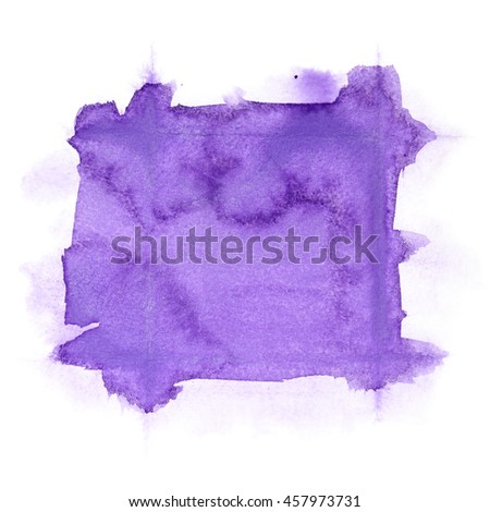 Violet abstract watercolor background - stock photo