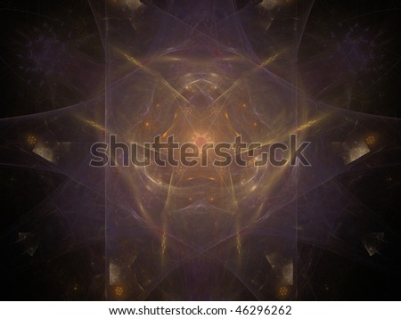 Violet and golden star dust - stock photo