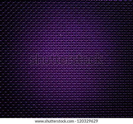 violet background of hexagonal pattern texture - stock photo