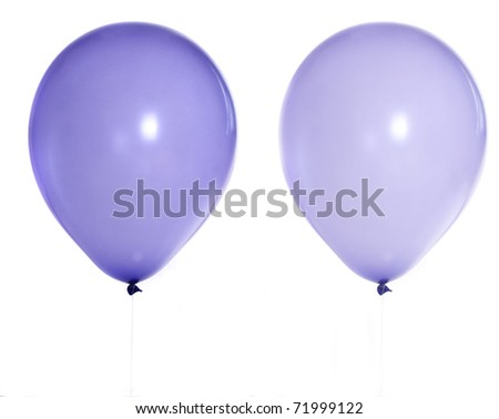 violet balloon isolated on white - stock photo