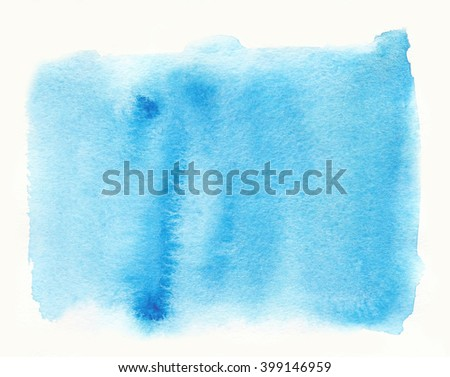 Violet blue watercolor hand drawn paper texture isolated round stain on white background. Water drop design element for banner, print - stock photo