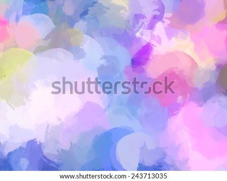 Violet brush strokes background - stock photo