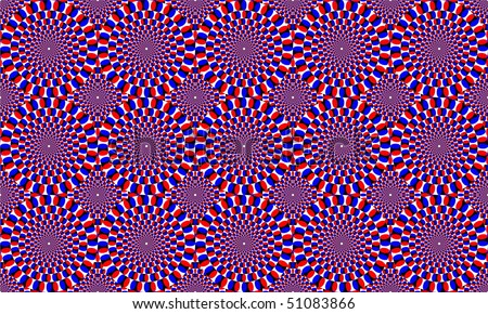 violet circles forming motion effects - stock photo