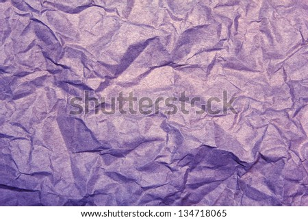 violet crumpled paper background