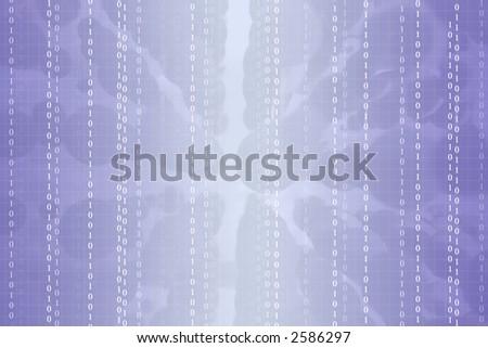 violet digital code - stock photo