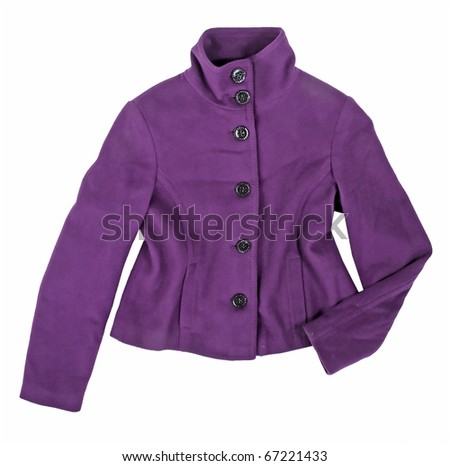 violet jacket - stock photo