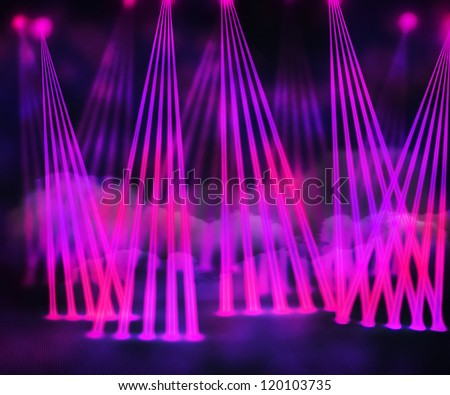 Violet Laser Stage Background - stock photo