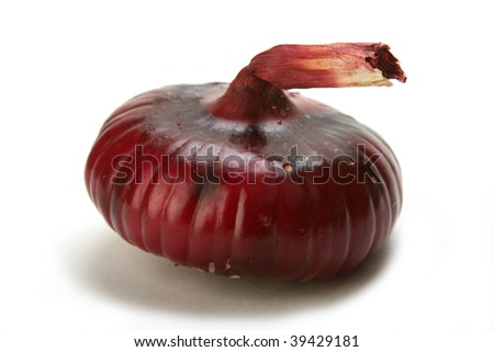 Violet onion on white