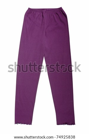 violet pants isolated with clipping paths - stock photo
