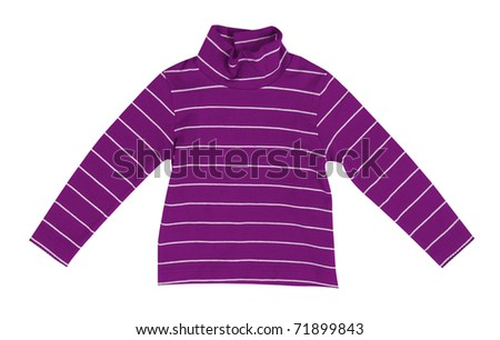 violet shirt - stock photo