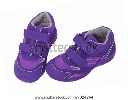 violet shoes - stock photo