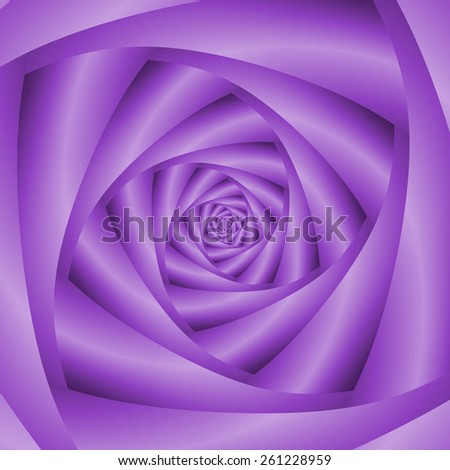 Violet Spiral / A digital abstract fractal image with a four sided spiral design in violet. - stock photo