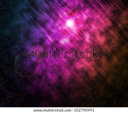 Violet Stars Universe Background - stock photo