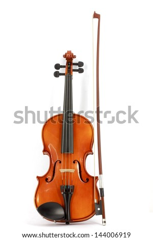 Violin and bow - stock photo