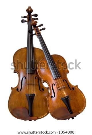 Violin and viola II - stock photo