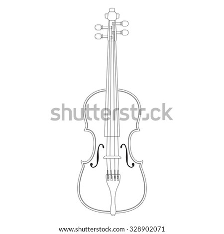 Violin. Illustration isolated on white background. Raster version.