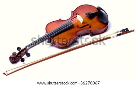 violin isolate - stock photo