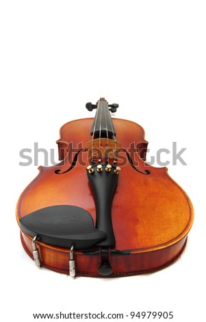 violin isolated on the white background - stock photo