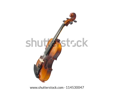 violin isolated on white background