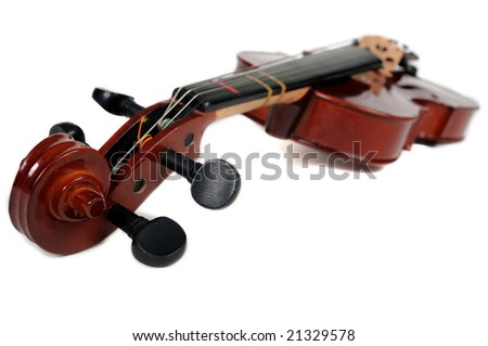 Violin isolated over a white background