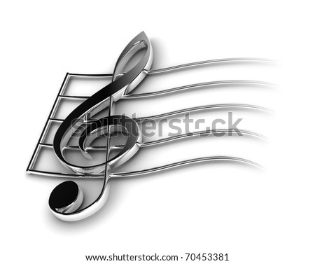 Violin Key - stock photo
