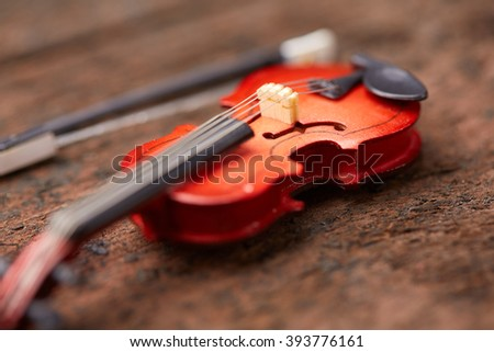 violin on a wooden background