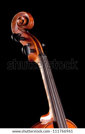 Violin   on black background - abstract music concept - stock photo