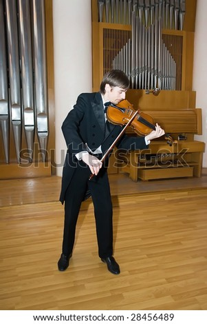 violin player - stock photo