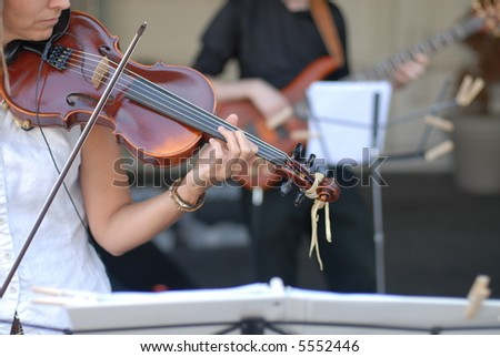 Violin Player and Band