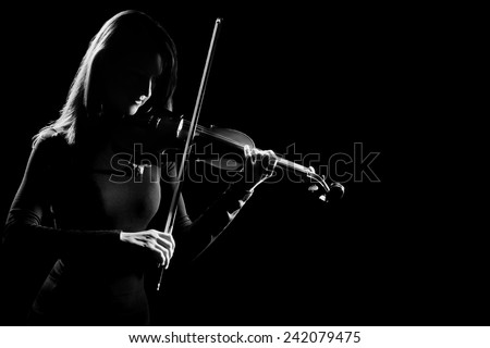 Violin player violinist classical music concert playing classic musician - stock photo
