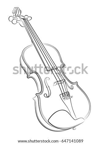 violin white black stock vector 515448154 shutterstock