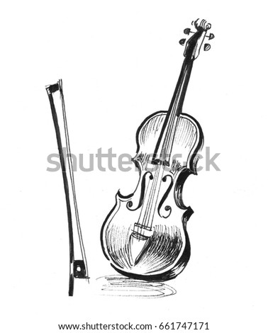 Electric violin sketch