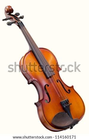 violin under the white background - stock photo