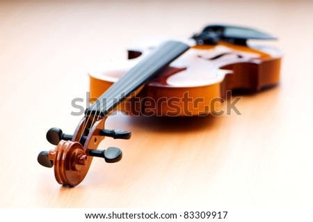 Violing in music concept