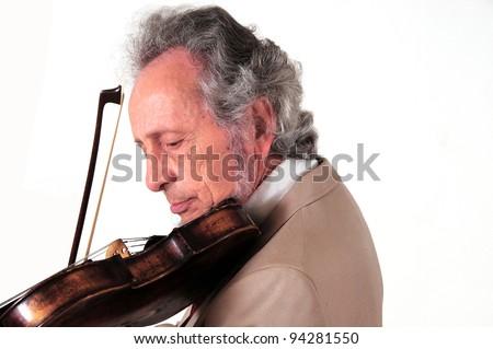 violinist - stock photo