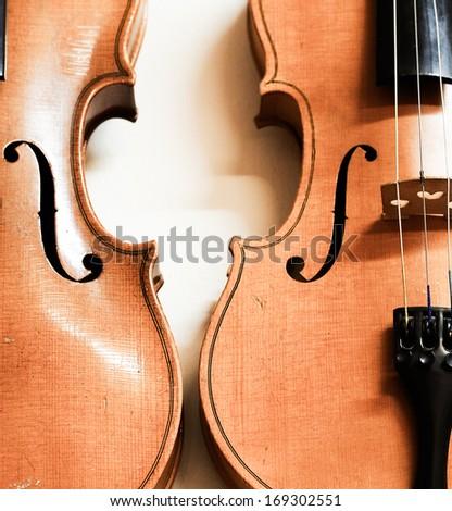 Violins - stock photo