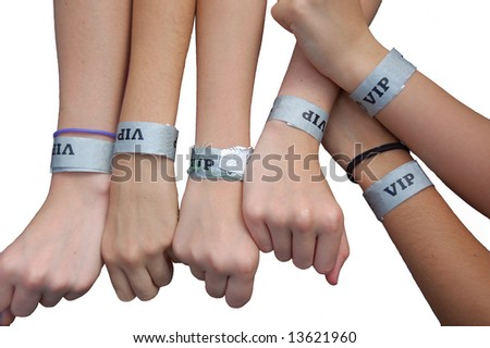 VIP armbands. - stock photo