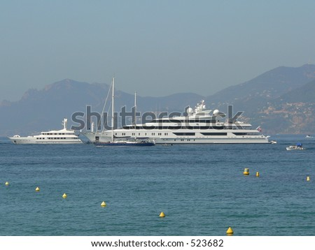 VIP boats in Cannes (French riviera)
