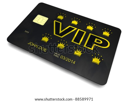 VIP card - stock photo