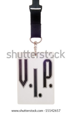 VIP card isolated over white background - stock photo