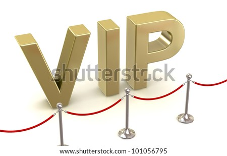 VIP in 3-d visualization - stock photo