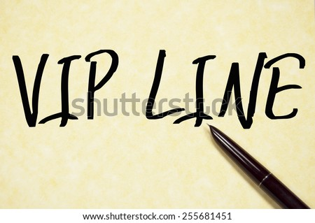 vip line sign write on paper  - stock photo