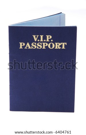 VIP Passport Book Isolated Over White Background