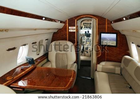 VIP transportation (jet airplane) - stock photo