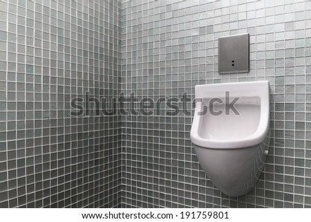 Vip Urinal in the corner - stock photo